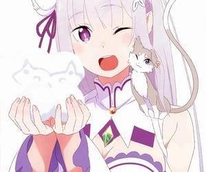 anime, re:zero, and cute image