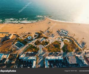 california, los angeles, and venice city beach image