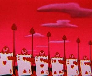 alice in wonderland, card, and cartoon image