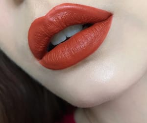 lipstick, makeup, and red lips image