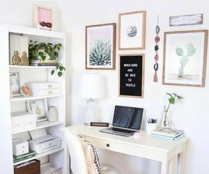 books, desk, and glamour image