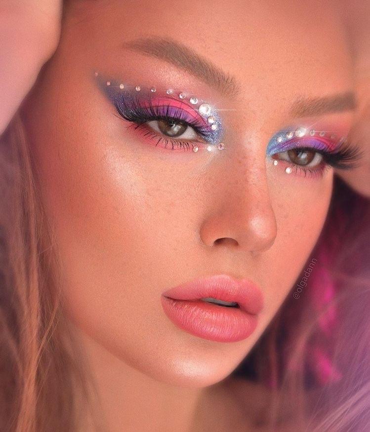 aesthetic, disco, and eyeshadow image