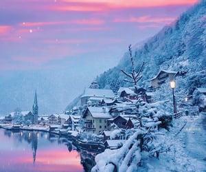 winter, sky, and snow image