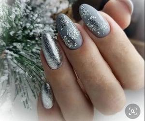 nails, snowflake, and grey image