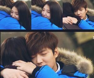asian, couple, and hug image