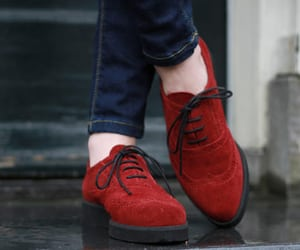 shoes, red, and jeans image