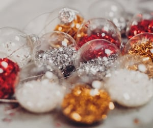 aesthetic, christmas, and gold image