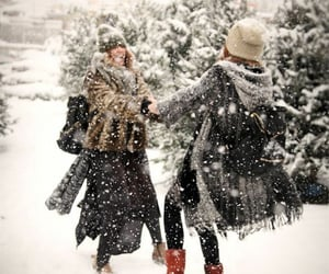 snow, winter, and friends image