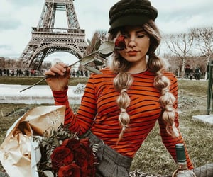 fashion, paris, and flowers image