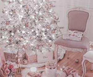 christmas, pink, and dior image
