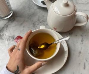 coffee, tea, and teatime image