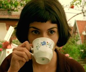 amelie, movie, and tea image