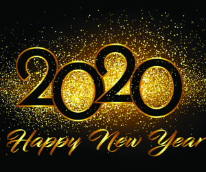 2020, flowers, and happy new year image