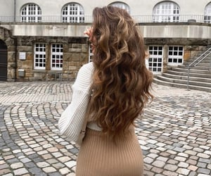 city life, fashion, and hairstyle image