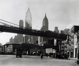 berenice abbott, bridges, and skyline image