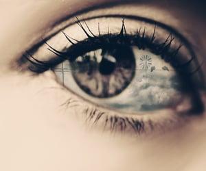 eye, reflection, and Self Portrait image