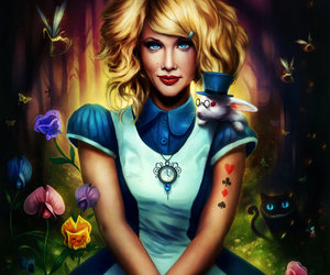 alice, alice in wonderland, and hipster image