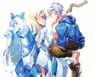 jack frost, snow, and elsa image