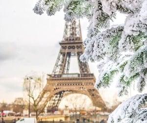 city, paris, and winter image