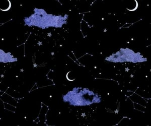 wallpaper, stars, and moon image