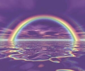 rainbow, purple, and aesthetic image
