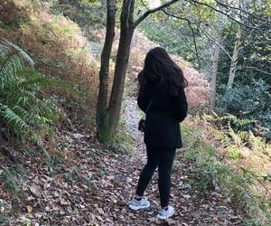 black coat, fun, and nature image