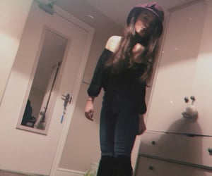 hat, jeans, and long boots image