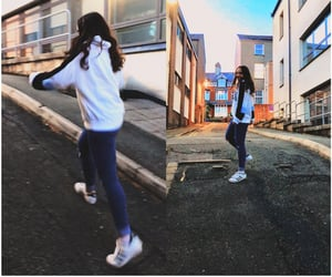 adidas, ripped jeans, and jeans image