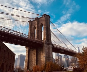 brooklyn bridge, dumbo, and new york image