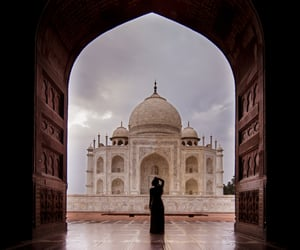 taj mahal, travel, and agra tour image