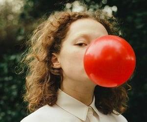 balloon, girl, and green image