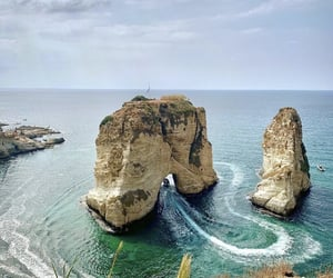 beach, Beirut, and cold image
