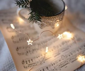 luces, musica, and navidad image