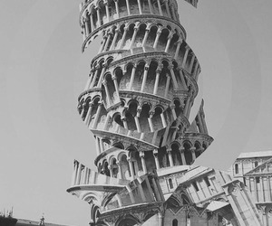 art, black and white, and italy image