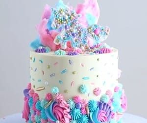 buttercream, cake, and happy image