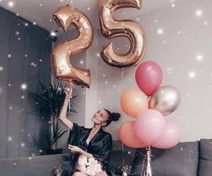 25, loveble, and baloons image