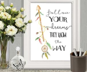 dreamcatcher, instant download, and arrow quote image