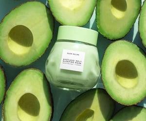 avocado, face mask, and green image