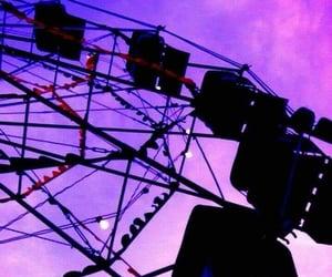 purple, aesthetic, and ferris wheel image