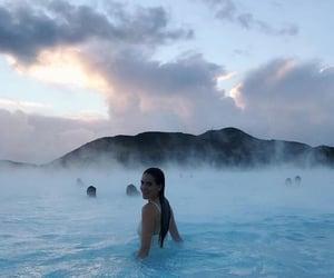 beautiful, blue lagoon, and nature image