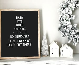 quotes, winter, and words image