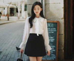 blouse, skirt, and chiffon image