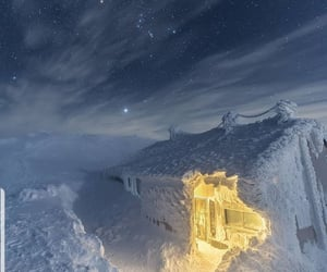 snow, japan, and stars image