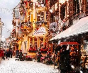 winter, christmas, and christmas lights image