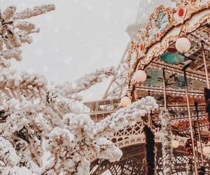 winter, christmas, and paris image