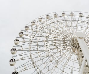 white, aesthetic, and ferris wheel image