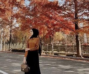 autumn, mode, and حجابي image