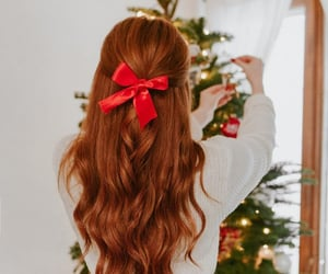 christmas, hair, and holiday image