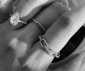 accessories, b&w, and rings image