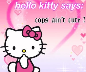 hello kitty and acab image